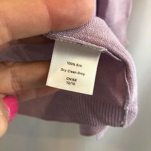 Talbots Shrug Sweater Silk Medium lilac A32
